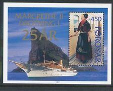 Faroe Islands 1997 Queen Margrethe II of Denmark's Jubilee Mini Sheet Unmounted