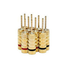 10pcs 5 Pairs Gold plated Copper Speaker Banana Plugs Pin Screw Type HighQuality