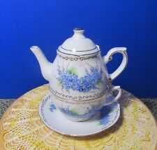 DeBelly Romania Handmade/painted Individual Teapot cup & saucer. EXTREMELY RARE