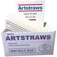 ARTSTRAWS MINI SCHOOL PACK WHITE PAPER STRAWS ART STRAWS 6mm  PACK SIZE 250