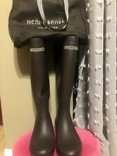 Henri Bendel Black Crocodile Rain Boots ~ Size 8