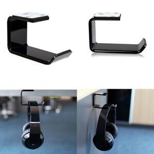 Headphone Hanger Stand Holder Acrylic Hook Under Desk Headset Mount Beautiful UK