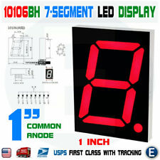 1 Inch 7-Segment Red LED Display Common Anode Large 10106BH Digital Tube
