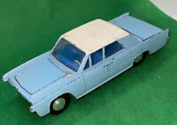 """Vintage Dinky Toys Blue & White Lincoln Continental Die-Cast Car 5"""""""