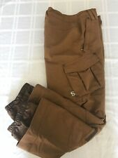 IMP Obermeyer ALT3 Brown Denim Look Snow Ski Board Pants Junior Youth Sz 14 TS9