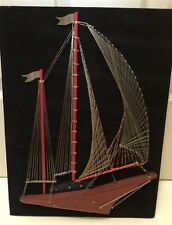 "Vintage 1976 String Art by Ship Shop ""Regatta"" Sh 00006000 ip Sea Ocean Completely Done"