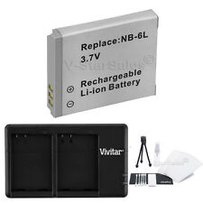 NB-6LH Replacement Battery & USB Dual Charger for Canon SD3500 SX240 SX260 SX500