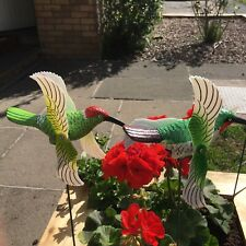 Two Kingfishers Whirligig,whirlygig, Garden Ornament,wind Spinners, Windmill