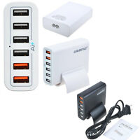 Universal 6 USB  Multi-Port Travel Wall Charger Desktop Quick Charging Station