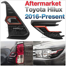 Front Tail Rear Light Lamp Cover For Toyota Hilux 2016 2017 2018 TRD Black & Red