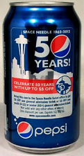 FULL Can Pepsi 50th Anniversary Seattle Space Needle USA Ltd Ed 1962 World Fair