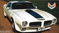 1973 PONTIAC FIREBIRD FORMULA 400 SPEC SHEET/Brochure/