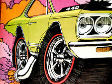 1968 PLYMOUTH GTX ORIGINAL AD *Belvedere/440/426 HEMI V8 engine/door/hood/emblem