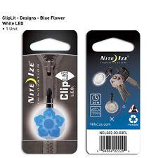 Nite Ize ClipLit Blue Wild Flower ON Time Weather Resistant NCLS02-03-03FL