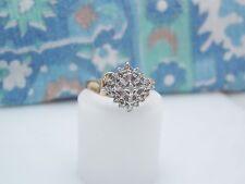 10K YELLOW GOLD COCKTAIL DIAMOND RING SIZE 7 APRIL BIRTHSTONE NG13-R