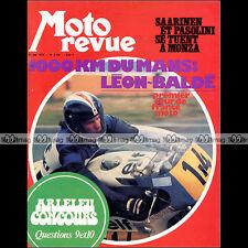 MOTO REVUE N°2126 VESPA 125 LE MANS GRAND PRIX D'ITALIE PASOLINI SAARINEN 1973