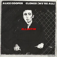 "Alice Cooper 1980 Portugal Clones (We'Re All) 7"" Vinyl Single Picture Sleeve Ps"