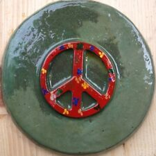 Peace 2, stone, stepping stone,  plastic mold, concrete mold, cement, plaster