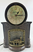 ANIMATED MASTER-CRAFT FIREPLACE CLOCK/  WORKS