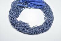 Natural high quality iolite rondelle faceted gemstone beads 13 inch 1 strand