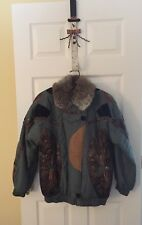 Caravelle Fine Fur Fashion New York, Rabbit Fur Lined Winter Jacket Size 14p