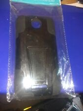 For HTC Desire 510 Case - Hybrid Dual Hard Skin Phone Stand  Black