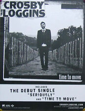 CROSBY LOGGINS POSTER, WINDOW CLING, TIME TO...L14)