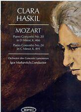 CLARA HASKIL Mozart piano concerto no 20 / no 24 US EX LP GOLD LABEL