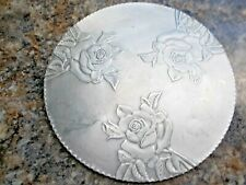 Worked Aluminum Trivet with Roses, made in Canada #478