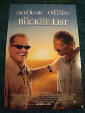 THE BUCKET LIST - MOVIE POSTER WITH JACK NICHOLSON AND MORGAN FREEMAN