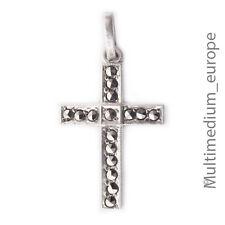 Art Deco Silber Kreuz Anhänger Markasiten 30er silver cross pendant marcasites