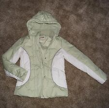 Womens Grane winter coat light green and white size Small