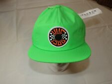 HUF 1986 Lime Green RARE Mens adult Snapback hat cap surf skate one size NWT