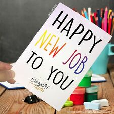 Leaving Card Coworker New Job Promotion Colleague Good Luck Funny Congrats PC71