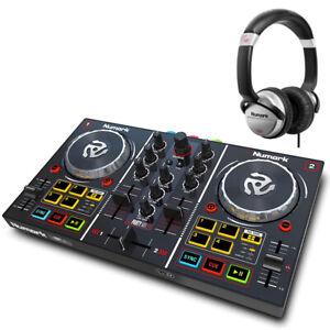 Numark Professional Party Mix DJ Controller w Light Show + HF125 DJ Headphones