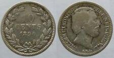 Niederlande 10 Cents 1890 Silber Willem III