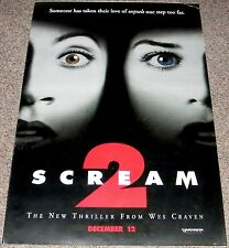 SCREAM 2 1997 ORIGINAL NM ADVANCE 27x40 MOVIE POSTER! WES CRAVEN HORROR CLASSIC!