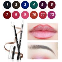 Waterproof Eye Brow Eyeliner Eyebrow Pen Pencil With Brush Lip Liner Cosmetic