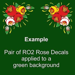 RO2 Self Adhesive Traditional Roses for Canal/Narrow Boat Decoration & Canalia