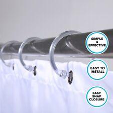 Premium Plastic Shower Rings - Clear