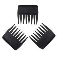 3pcs Peigne Brosse Afro Large Dent en Corne Cheveux Poignee Pour Boucles