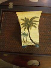 "Palm Tree Tin Planter 8.5"" Tall"