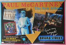 PAUL MCCARTNEY Give My Regards To Broad Street Rare Original Official UK POSTER