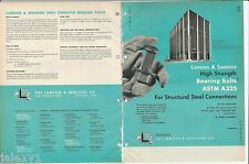 1964 Lamson & Sessions Bearing Bolts for Structural Steel Bay Bridge Ca Catalog
