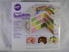 "Wilton Checkerboard Cake Pan Set 3 9"" pans"