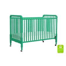 DaVinci Jenny Lind Stationary Crib w/ Toddler Conv. Kit, Emerald - M7391Em