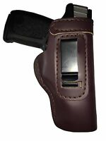 LT CUSTOM MAHOGANY IWB Leather Gun Holster YOU CHOOSE:rh,lh-laser-slide-belt-mag