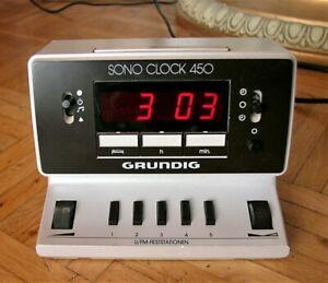 Grundig Sono Cock 450 - Radio-Uhr Wecker der 80er-Jahre