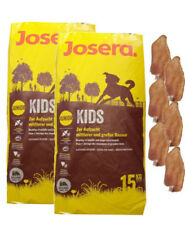 2x15kg Josera Emotion Kids Junior Hundefutter +  6 x Kaninchenohren