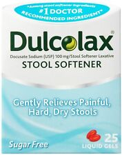 DulcoEase Stool Softener with HydroSoft Action, 25 Liquid Gels